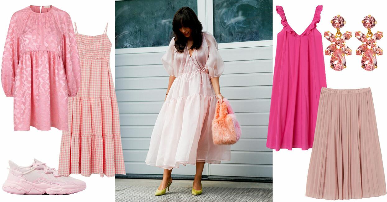 rosa och cerise plagg och accessoarer