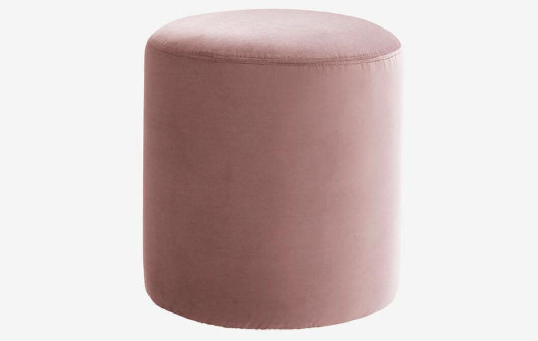 sammet puff sittpuff rosa