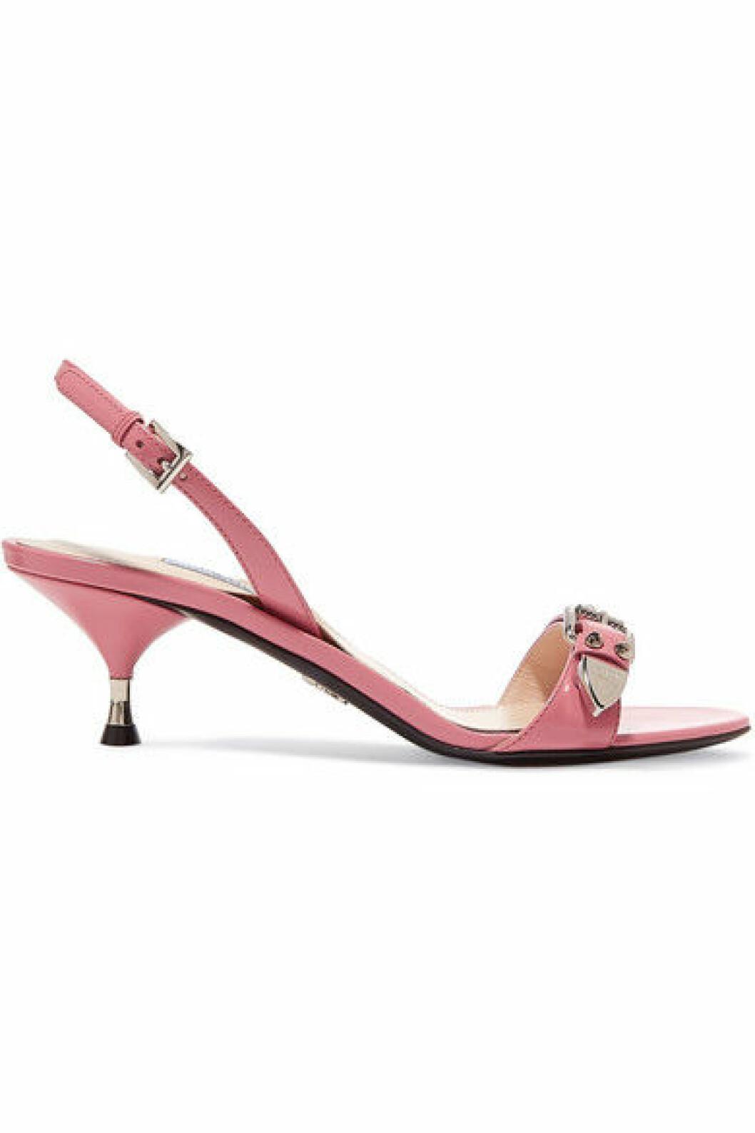 Rosa sandalett med taxklack
