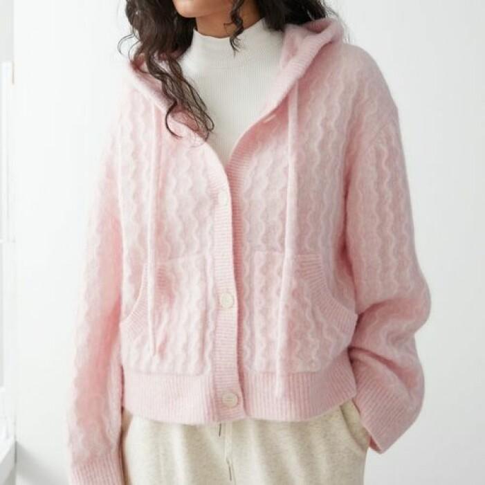 Rosa stickad tröja från & Other Stories