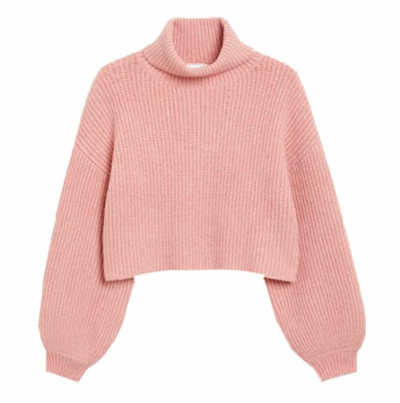 rosa stickad tröja från monki