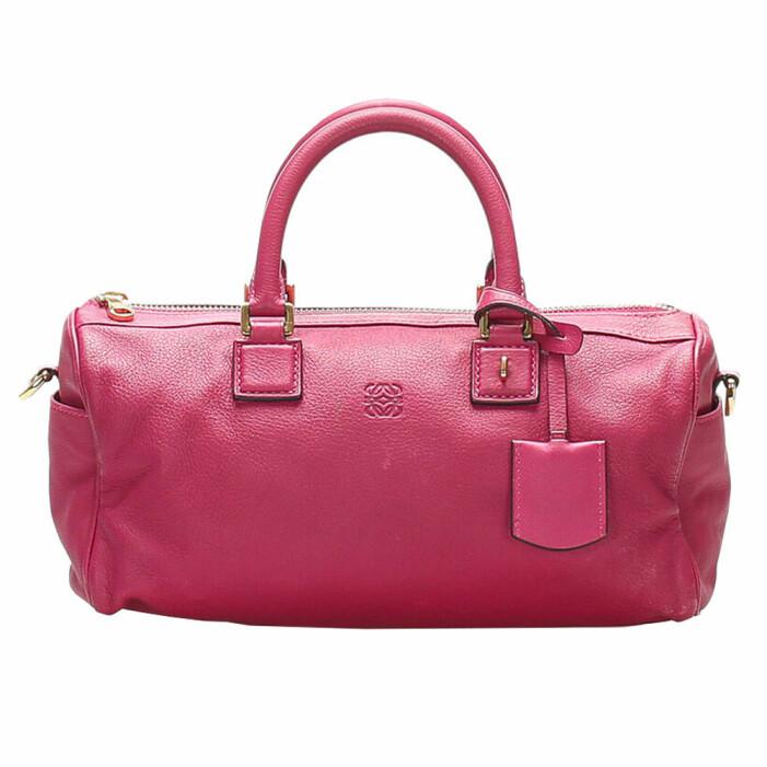 rosa väska Loewe Anagram Leather Satchel