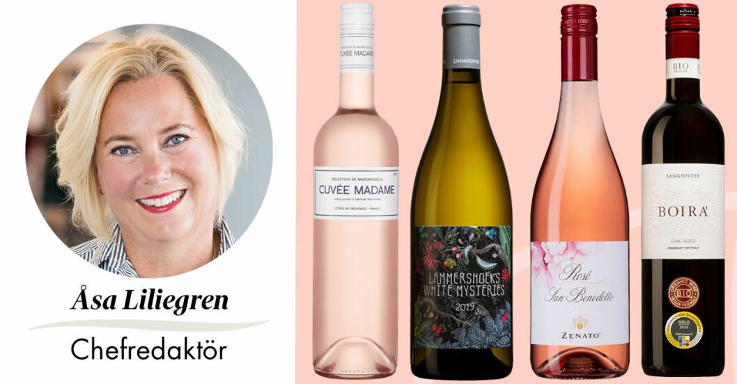 Feminas chefredaktör Åsa Liliegren tipsar om sommarens bästa roséviner