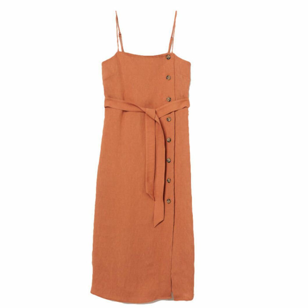 Rostfärgad klänning