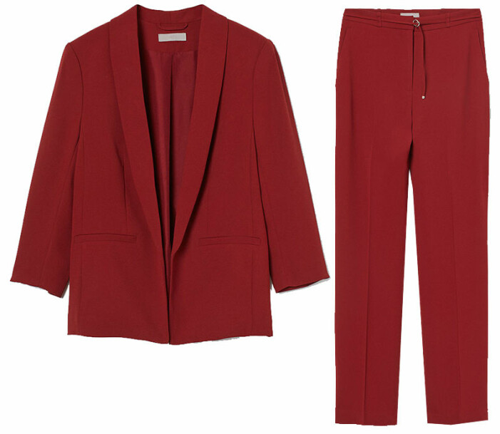 rött kostymset hm
