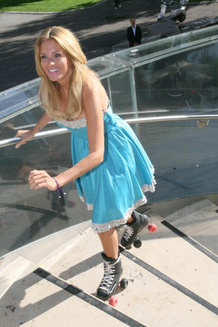 Carolina Gynning på rullskridsko