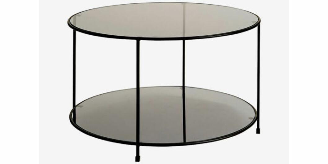 Runt bord med glasskiva