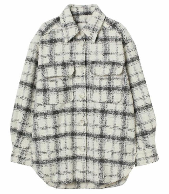 rutig skjortjacka hm