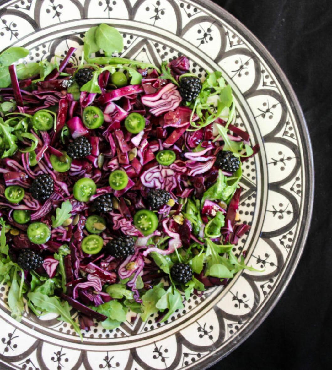 Lila och grön sallad