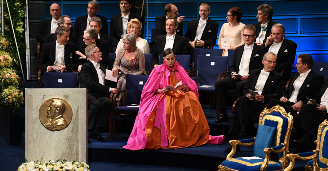Sara Danius inför Nobelfesten 2018