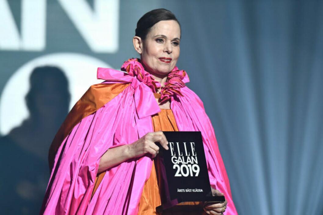 Sara Danius utsågs till Sveriges bäst klädda kvinna på ELLE-galan 2019
