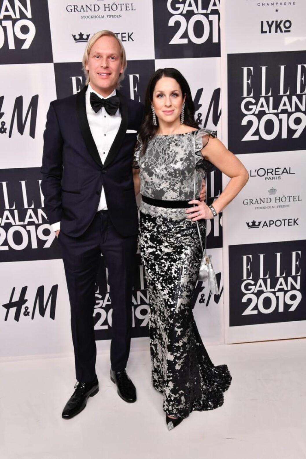 Jonas Unger med sin partner Sara Sommerfeld
