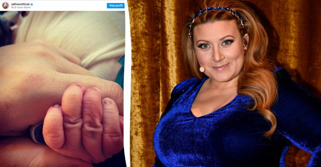 Sarah Dawn Finer har fött sonen Benji.