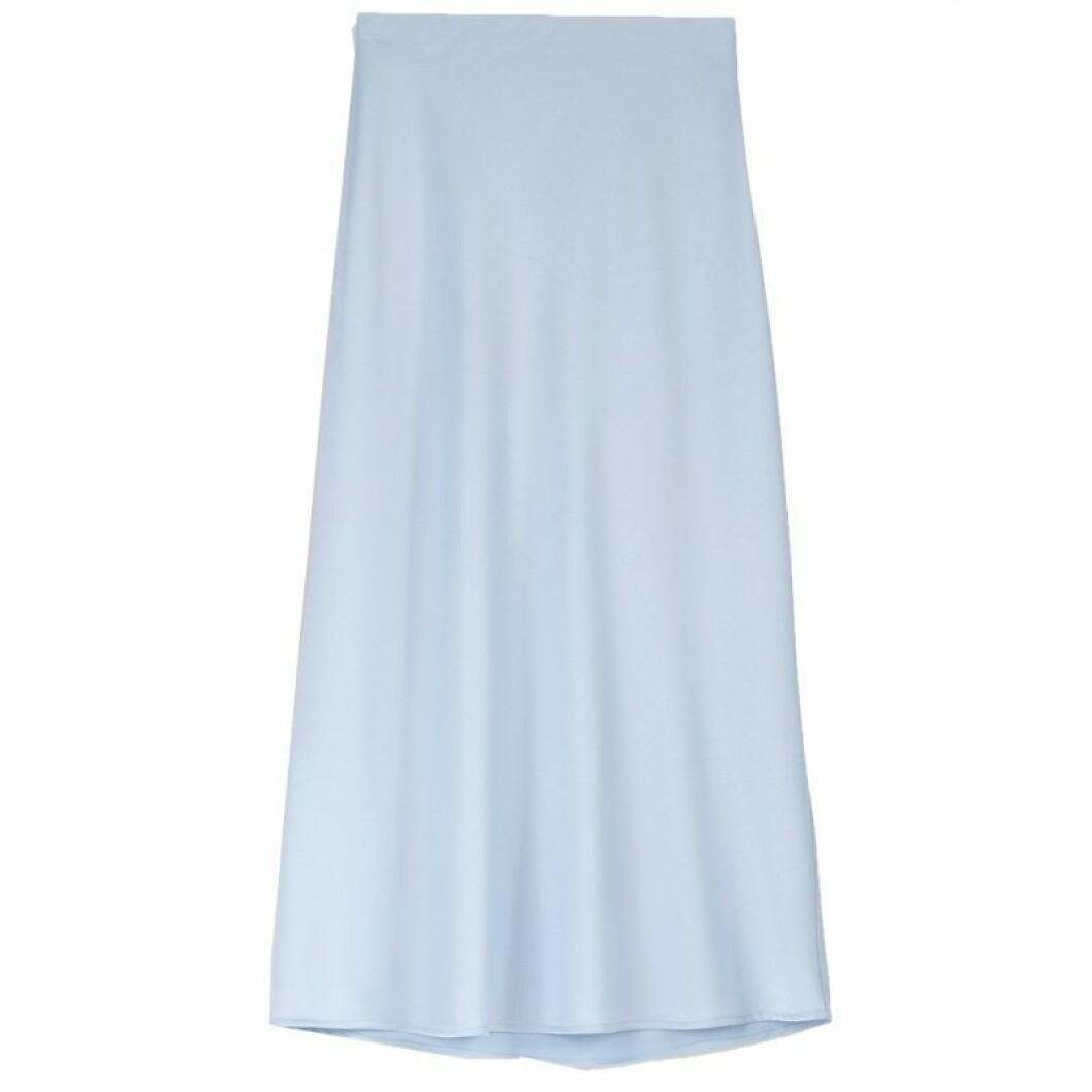 Blå satinkjol från Bubbleroom