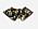 Krage med mönster i svart, brunt och beige. Broderad svart kant. Krage från Scotch and soda.