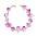 Halsband med guldfärgad kedja prydd med stora, osymmetriska bitar av ljuslila ametist. Halsband från Märta Larsson.