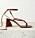 Bruna remsandaletter som man knyter upp runt vristen. Sandaletter från The Attico.