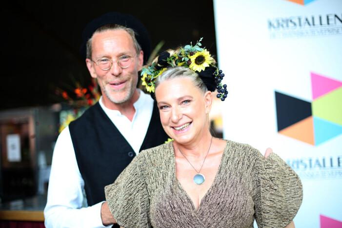 Gustav Mandelmann och Marie Mandelmann TV-priset Kristallen delas ut på Cirkus i Stockholm 2019-08-31
