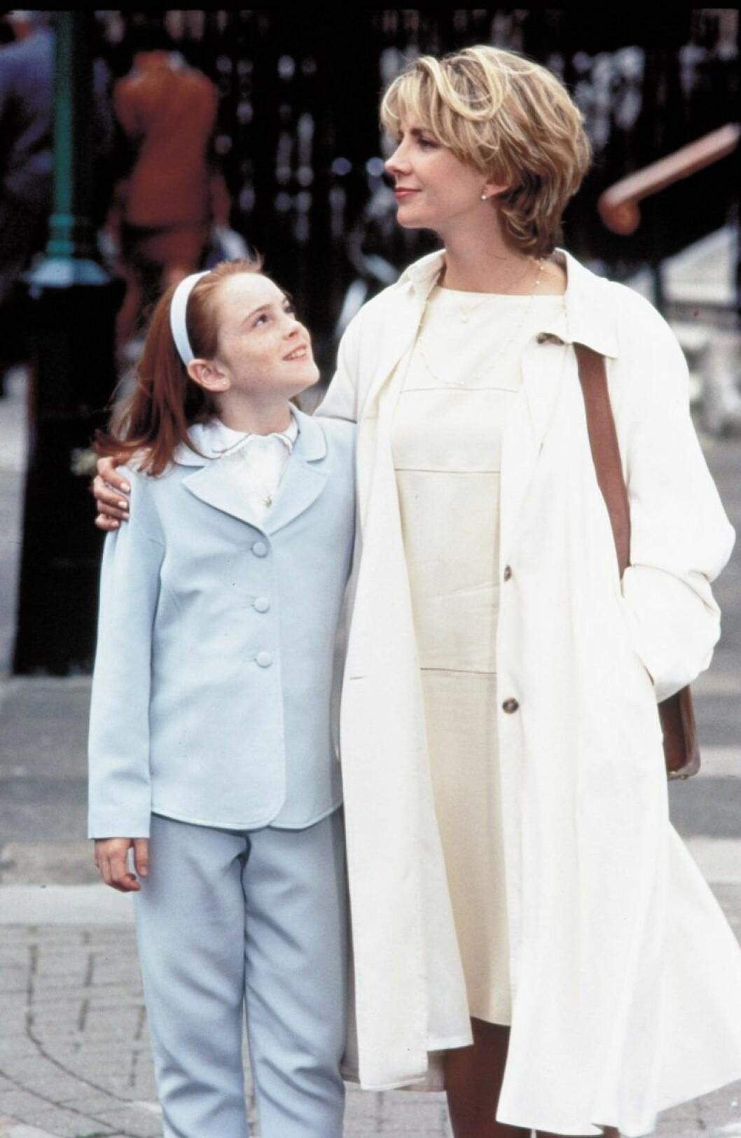 Lindsay Lohan fick sitt genombrott i Föräldrafällan.