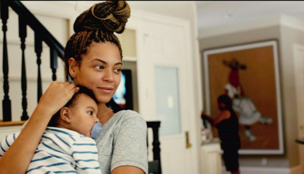 Beyoncé och dottern Blue Ivy Carter i dokumentären Life is but a dream.