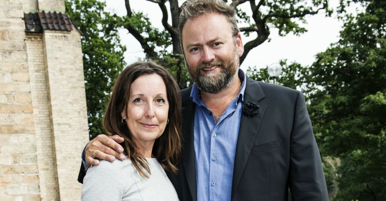 Adam och Anette Alsing.