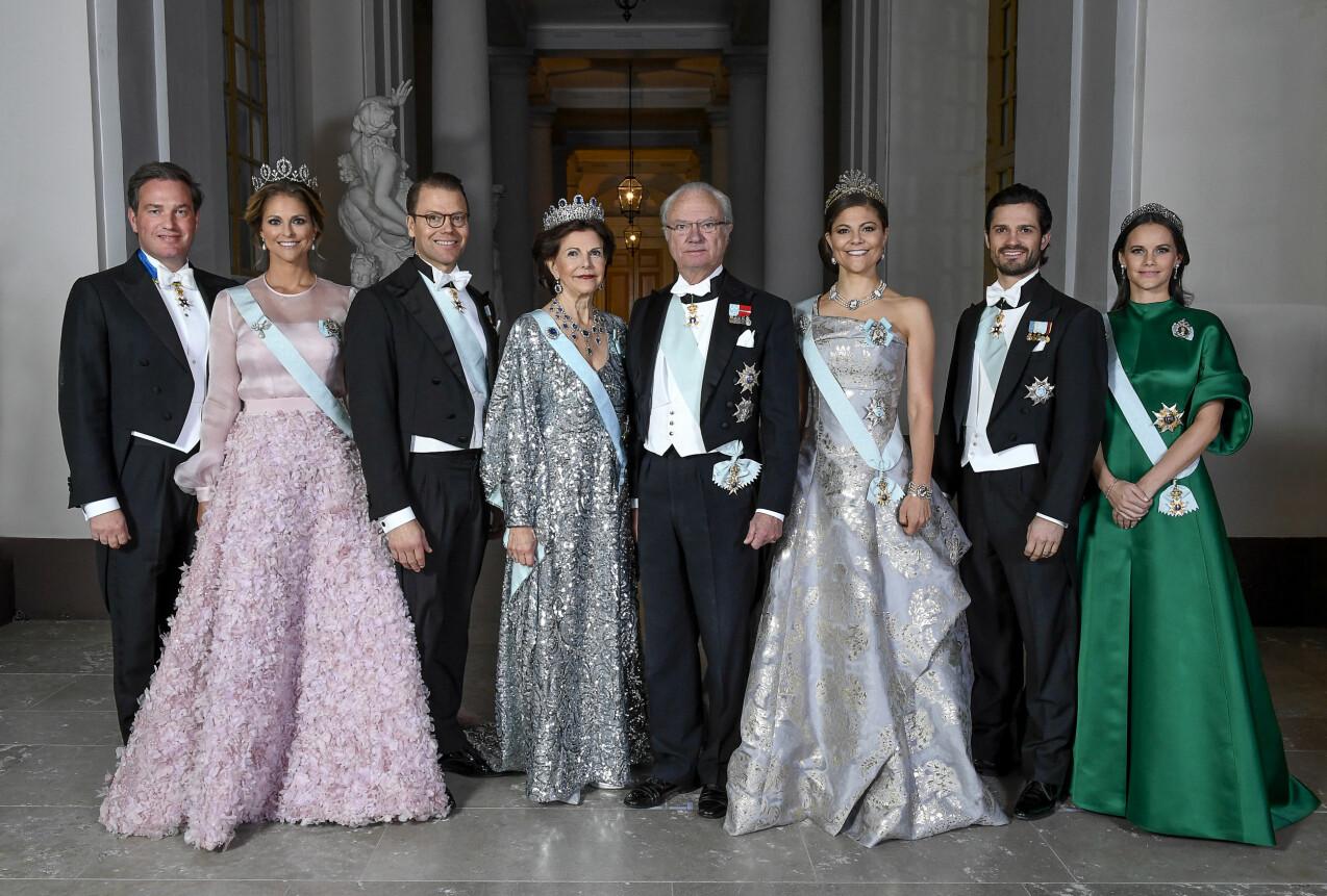 Svenska kungafamiljen samlad