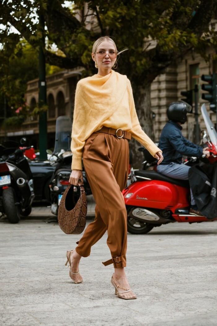 streetwearbild från Milano fashionweek
