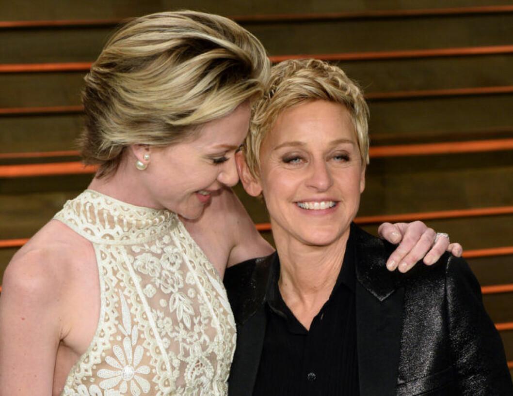 Ellen DeGeneres med partnern Portia de Rossi.