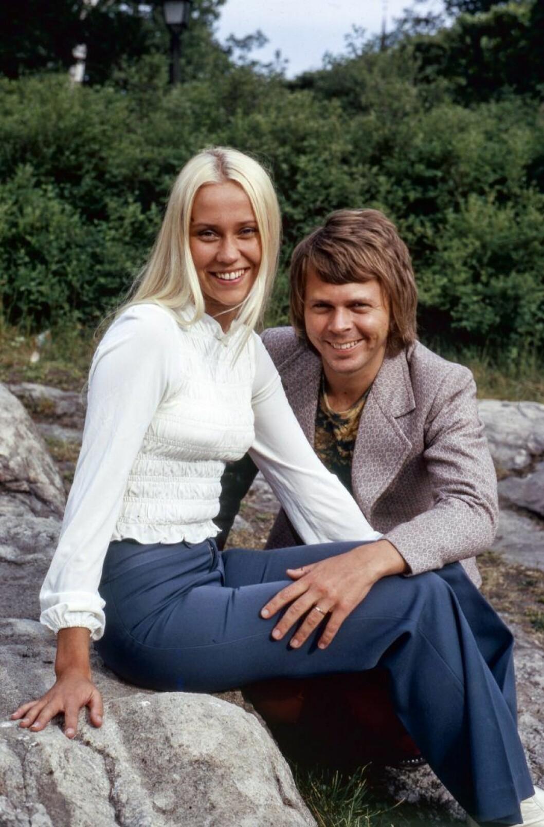 Björn Ulvaeus berättar om kärleken till Agnetha Fältskog. Fotografiet är från 1971.