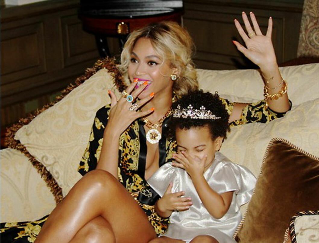 Beyonce och Blue Ivy