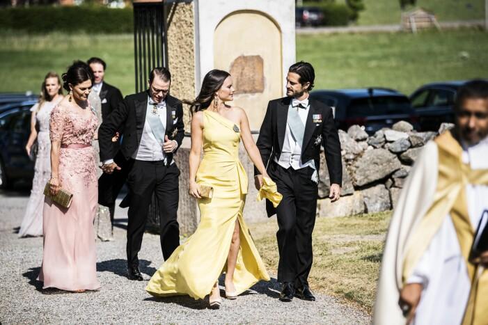 Prinsparet och Kronprinsessparet på Louise Gottliebs bröllop