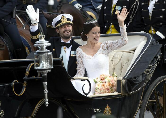 Prins Carl Philip och prinsessan Sofia från bröllopet.