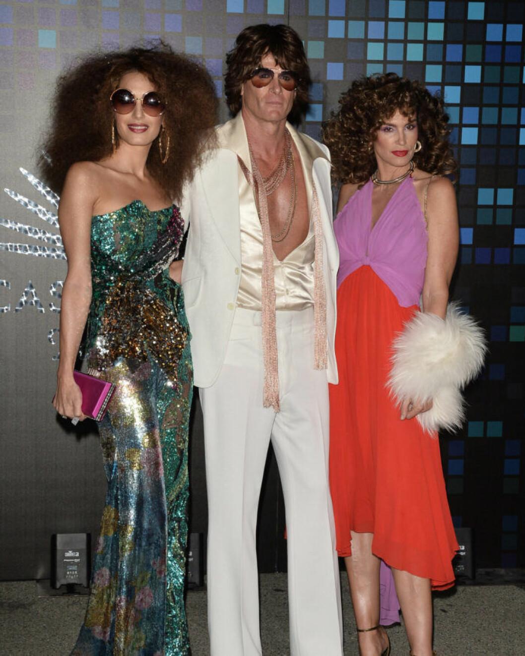 Amal Clooney och Cindy Crawford på Halloween.