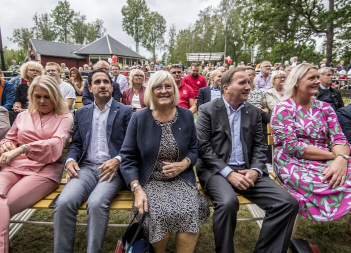 Ulla Löfven med Stefan Löfven i Kristinehamn.