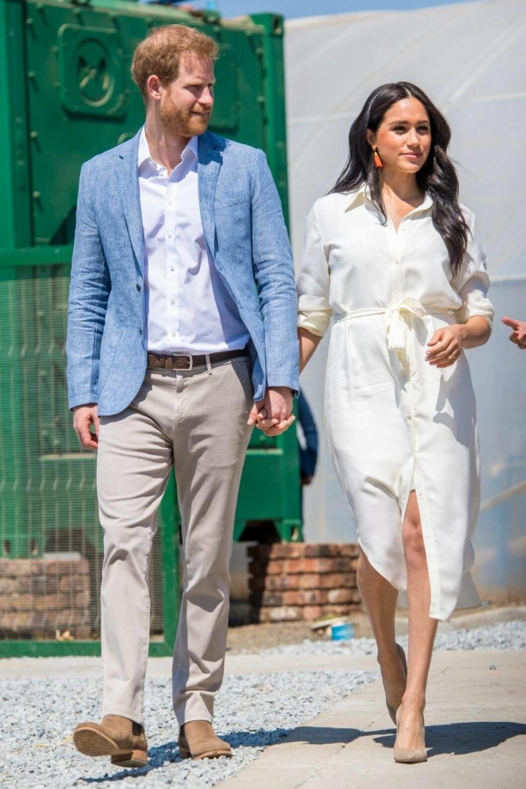 Prins Harry och Meghan Markle på resa ihop