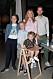 Jessica Almenäs, sambon Patrik Fahlgren och barnen Jack, Dylan och Sam.