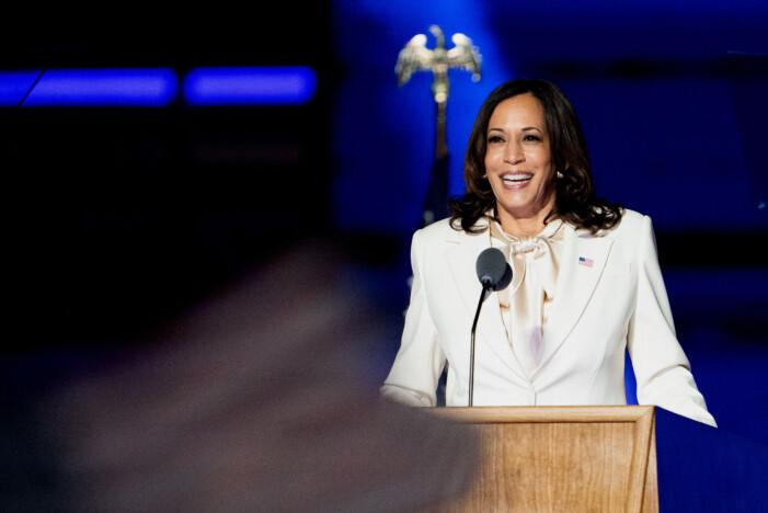 Kamala Harris blev ny vicepresident åt Joe Biden efter presidentvalet i USA