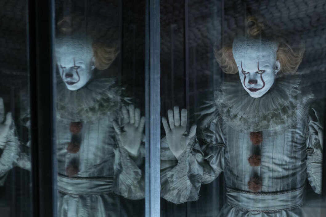 Bill Skarsgård som clownen Pennywise i fimlen Det