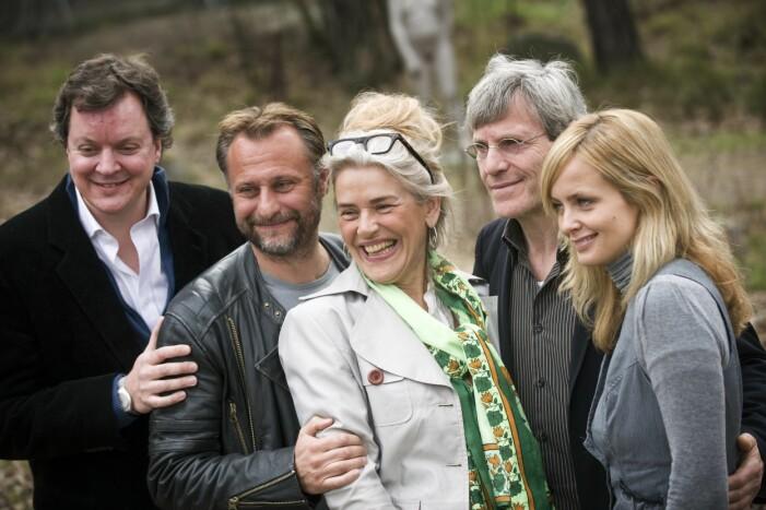 Ewa Fröling med Michael Nyqvist.