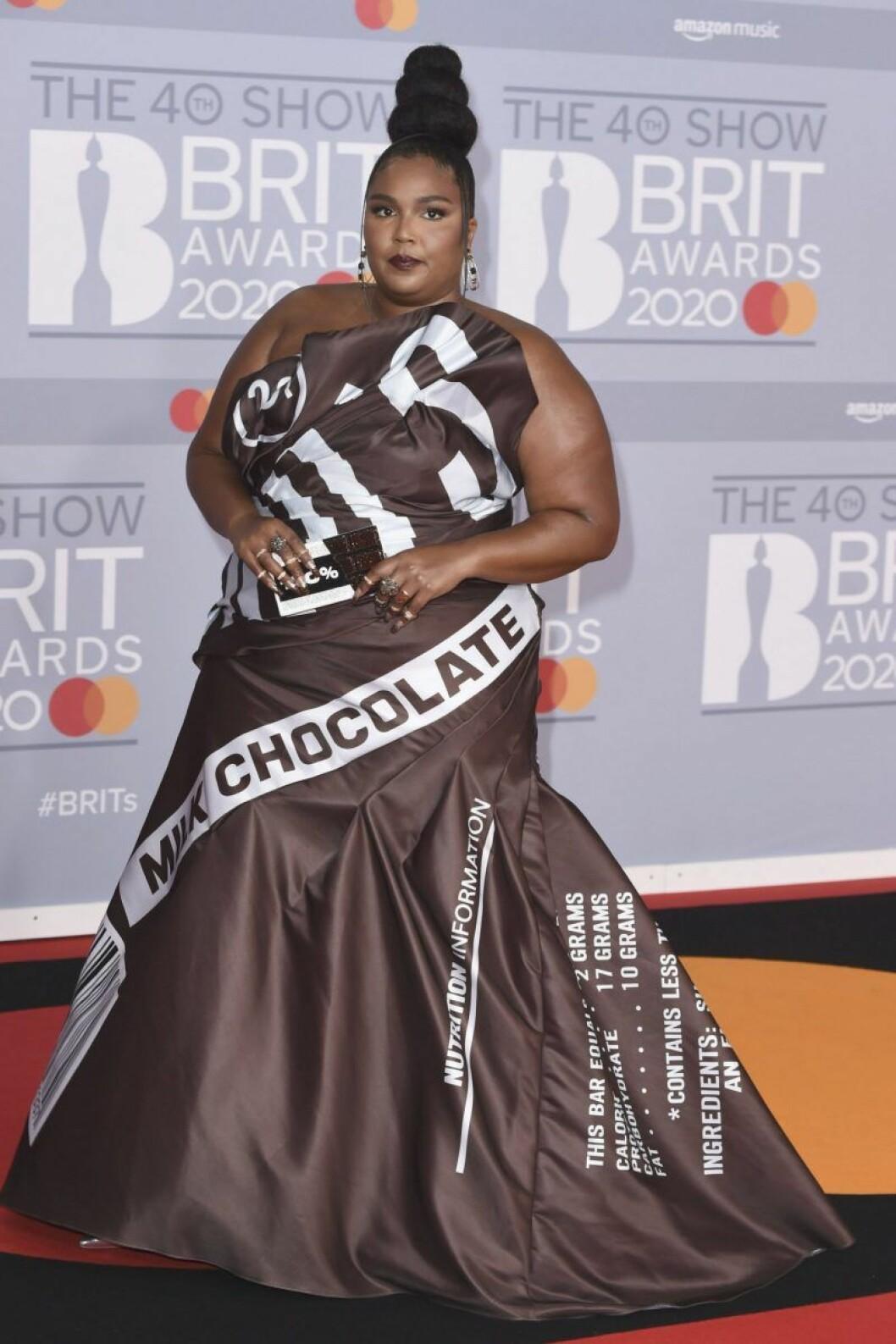 Lizzo på Brit Awards 2020.