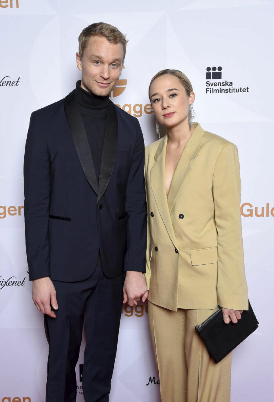 Björn Gustafsson och Alba August på Guldbaggegalan.