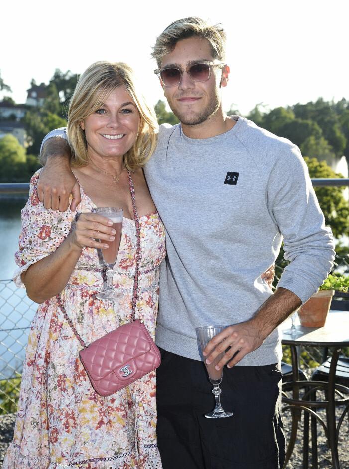 Pernilla Wahlgren och Benjamin Ingrosso.