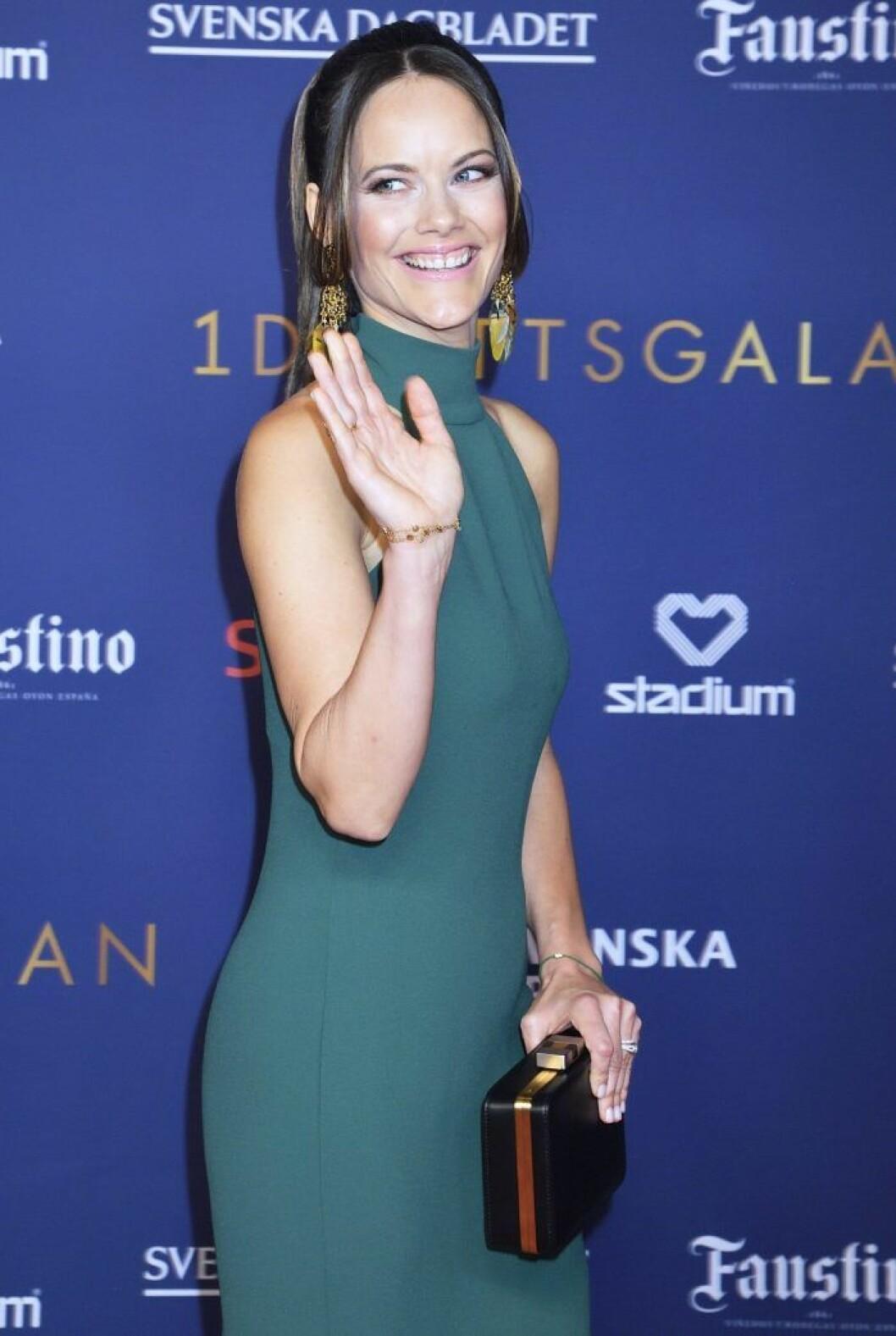 På Idrottsgalan visade prinsessan Sofia upp sitt nya smil.
