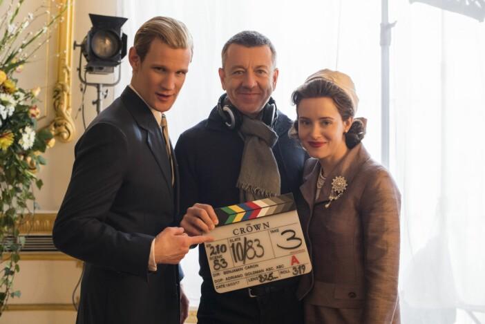 Matt Smith spelar prins Philip i The Crown tillsammans med Clare Foy.