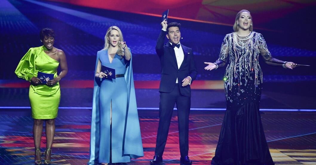 Programledarna i Eurovision song contest.