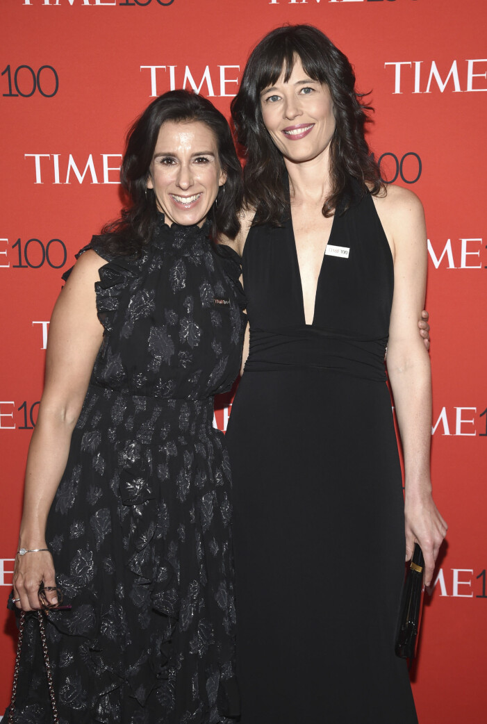 Jodi Kantor, left, and Megan Twohey attend the Time 100 Gala celebrating the 100 most influential people in the world at Frederick P. Rose Hall, Jazz at Lincoln Center on Tuesday, April 24, 2018, in New York
