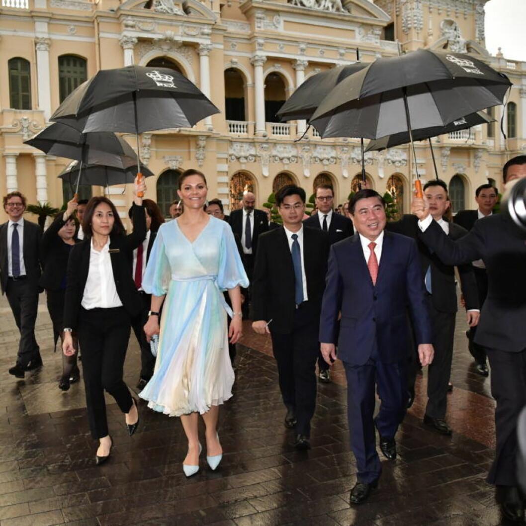 Victoria och Daniel under statsbesöket i Vietnam