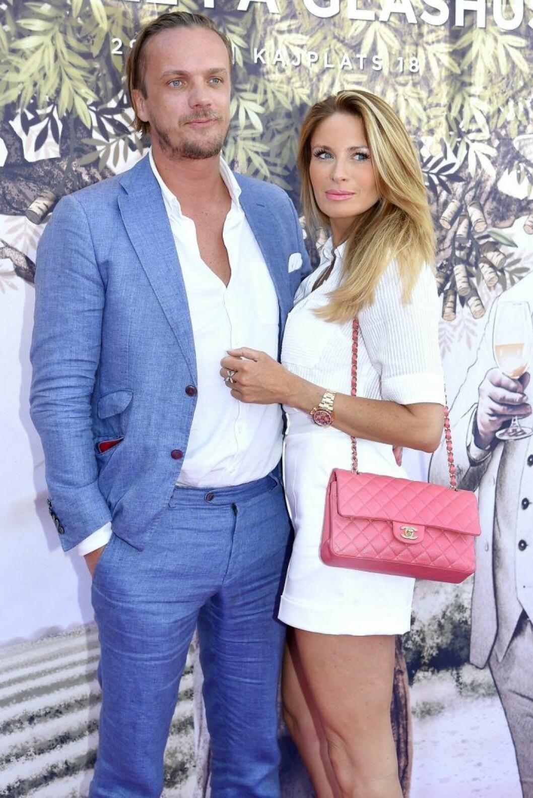 Carolina Gynning och Viktor Philipson sommaren 2019