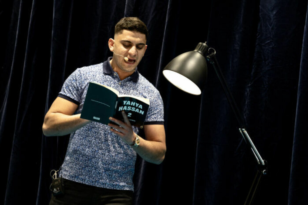 Yahya Hassan högläser ur sin andra diktsamling.