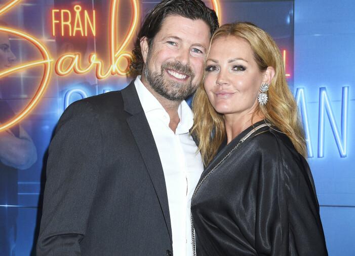 Johanna Toft med mannen Janne Fors på vimmel.